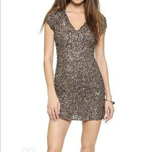 Parker Cluster Beaded V-Neck Dress